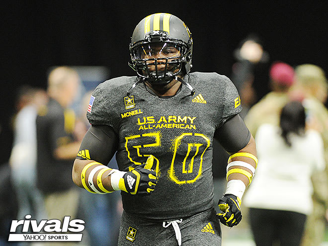 Raleigh Sanderson High senior defensive lineman Alim McNeill, who signed with NC State, finished ranked No. 11 overall in the state of North Carolina in the class of 2018 by Rivals.com.