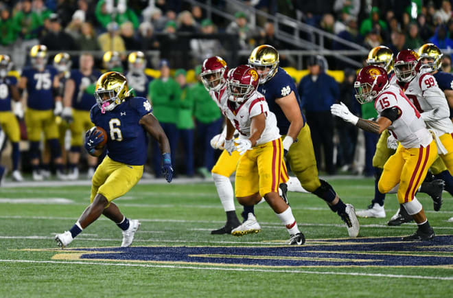 Tony Jones Jr. (6) is part of a running back corps that has not lost a fumble in its last 1,242 carries, dating back to 2015.