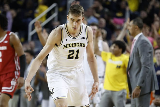 Michigan Wolverines basketball rising sophomore guard Franz Wagner is returning for next season.