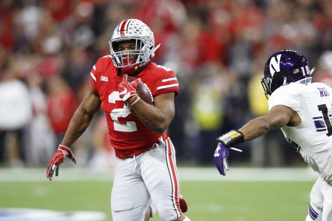 Junior Buckeye running back J.K. Dobbins is coming off back-to-back 1,000 yard seasons for Ohio State.