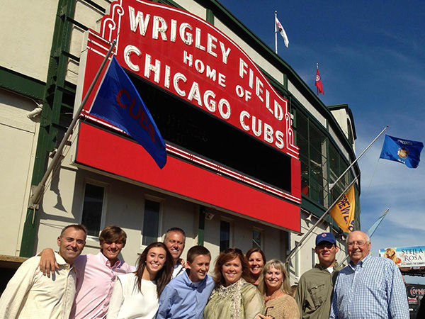 Don and Carolyn took their family to Wrigley a few years ago.