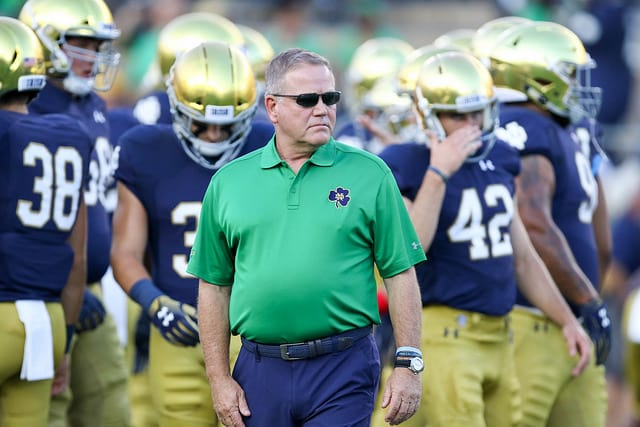Brian Kelly and the 2018 Notre Dame have a couple more steps to achieve football immortality.