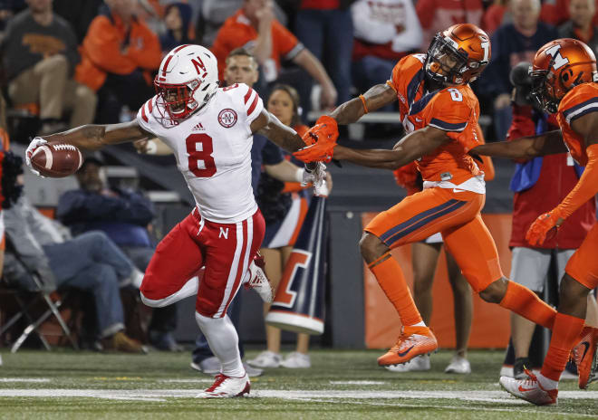 Stanley Morgan finished Friday's game at Illinois with 96 yards receiving on eight catches.
