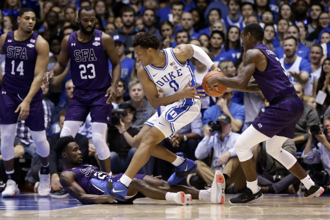 Duke turned the ball over 22 times in its upset loss to Stephen F. Austin.