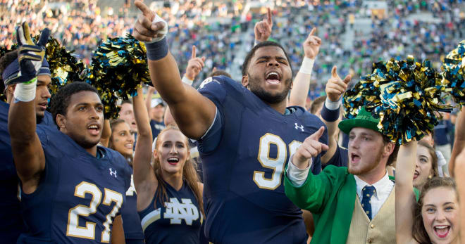 Defensive tackle Jerry Tillery (99) and cornerback Julian Love (27) entered the next chapter of their football careers this weekend.