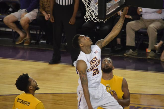 East Carolina guard B.J. Tyson was named to the Second Team Preseason All AAC squad on Monday