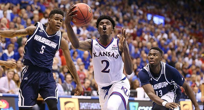 Kansas holds Preston out of Kentucky game after vehicle accident
