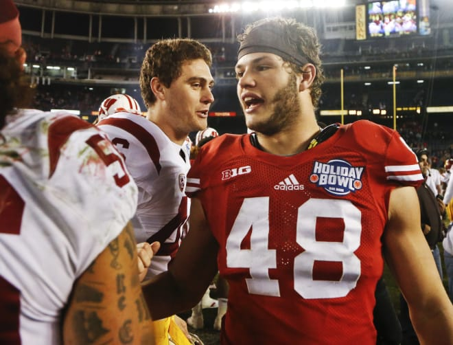 Linebacker Jack Cichy returns after getting hurt in the Badgers seventh game of the season in 2016.