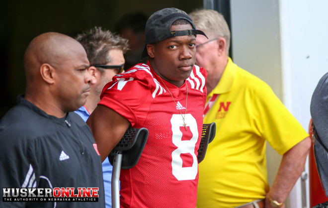 Even though he can't play, senior cornerback Chris Jones is still making an impact for the Huskers.