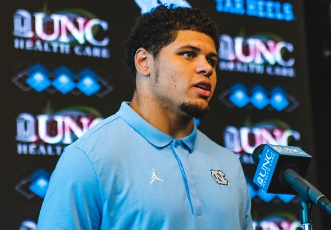 Sophomore LB Jeremiah Gemmel and six other Tar Heels discuss their season, Wake Forest and more Tuesday at UNC.