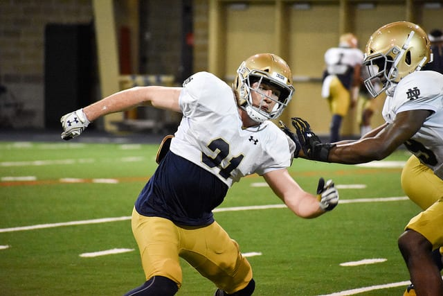 Sophomore linebacker Jack Lamb has begun to draw notice with both his pass coverage and physicality.