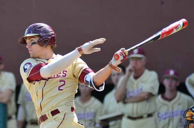 Sophomore Jackson Lueck drove in five runs Sunday against Samford.
