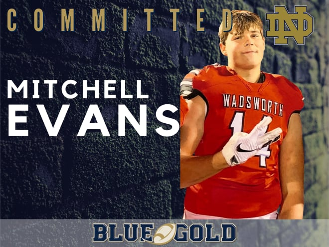 Wadsworth (Ohio) Senior tight end and Notre Dame commit Mitchell Evans