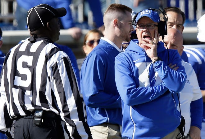 Head coach David Cutcliffe and the Blue Devils are seeking their second straight win against the Fighting Irish.