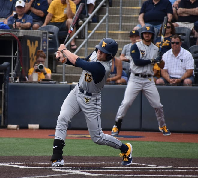 Brophy homered for the West Virginia Mountaineers during last year's season-ending loss to Texas A&M in the Morgantown Regional.