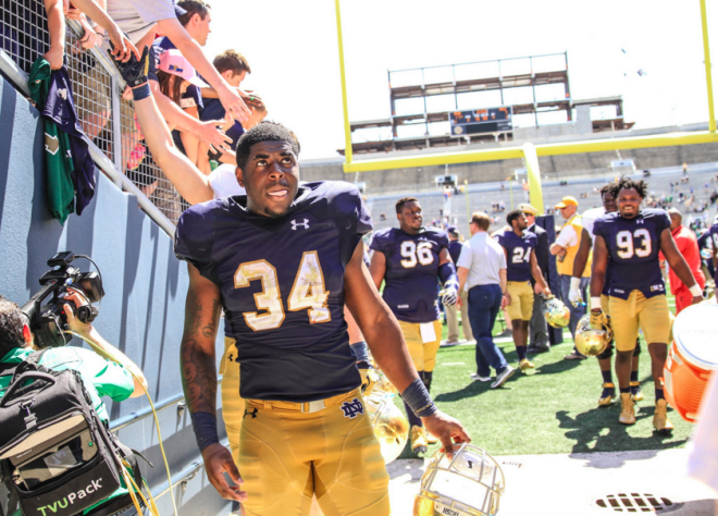 promo code 04c61 d2681 BlueAndGold - Dexter Williams Waited His Turn In Notre ...