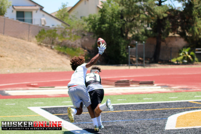 Bookie Radley-Hiles with a nice catch during one-on-ones