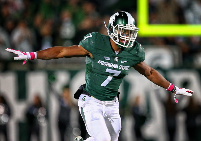 Demetrious Cox (above) and Montae Nichols give Michigan State one of the best safety tandems in the country this season.