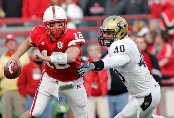 Quarterback Joe Ganz broke Zac Taylor's school record for passing yards in a season in Nebraska's victory over Colorado.