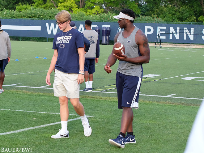 Gillikin stands next to Shane Simmons upon arriving at Penn State's campus.