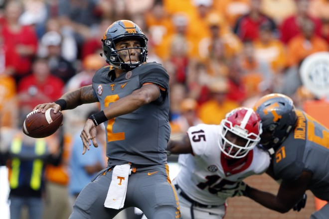Tennessee promotes Jarrett Guarantano to starting QB, report says