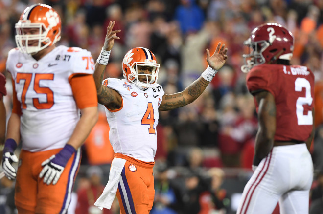 Clemson QB Deshaun Watson says Cardinals' black unis are 'nasty'