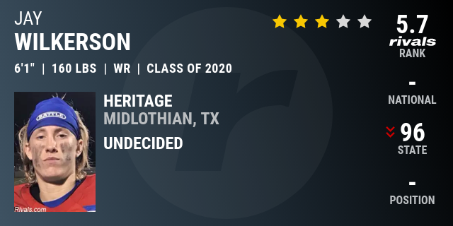 Jay Wilkerson, 2020 Wide Receiver - Rivals com