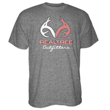 12f4ea53e0 Realtree Womens Edge Antler Graphite Heather Short Sleeve Tee RTLP-359