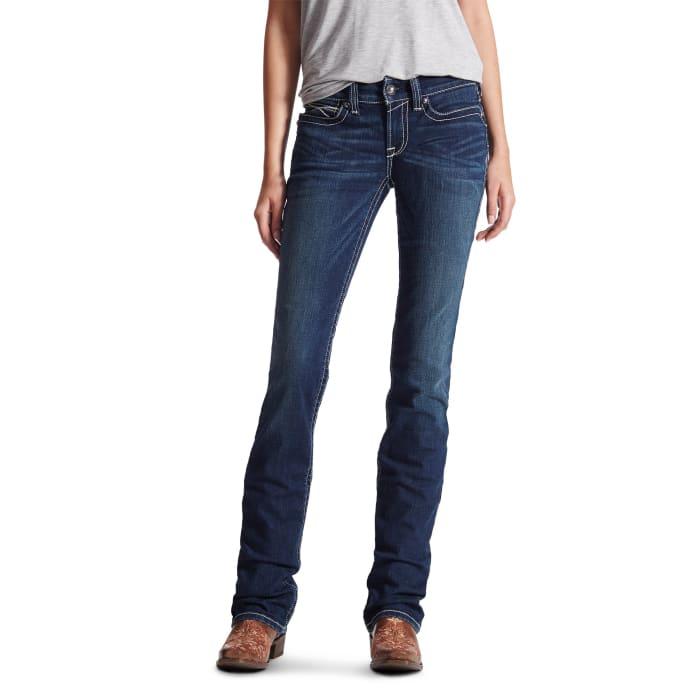b6140452edd Ariat Women's R.E.A.L Midrise Icon Stackable Straight Leg Jean ...