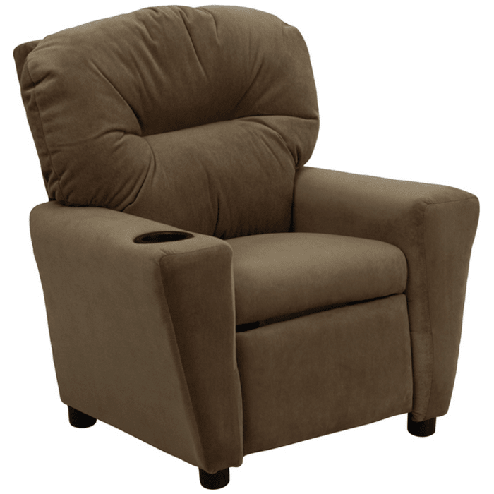 Flash Furniture Contemporary Microfiber Kids Recliner W Cup Holder