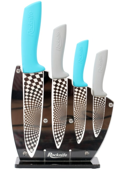 Blue and Grey Kitchen Knife Set