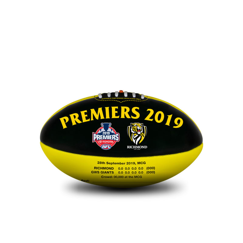 2019 Richmond Tigers Premiers Ball - 20cm