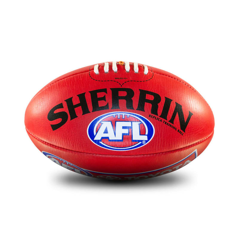 AFL Replica Training Ball - Red - Size 3