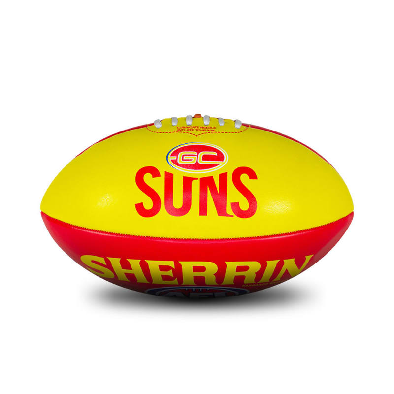 Personalised Gold Coast Suns Ball - Size 3