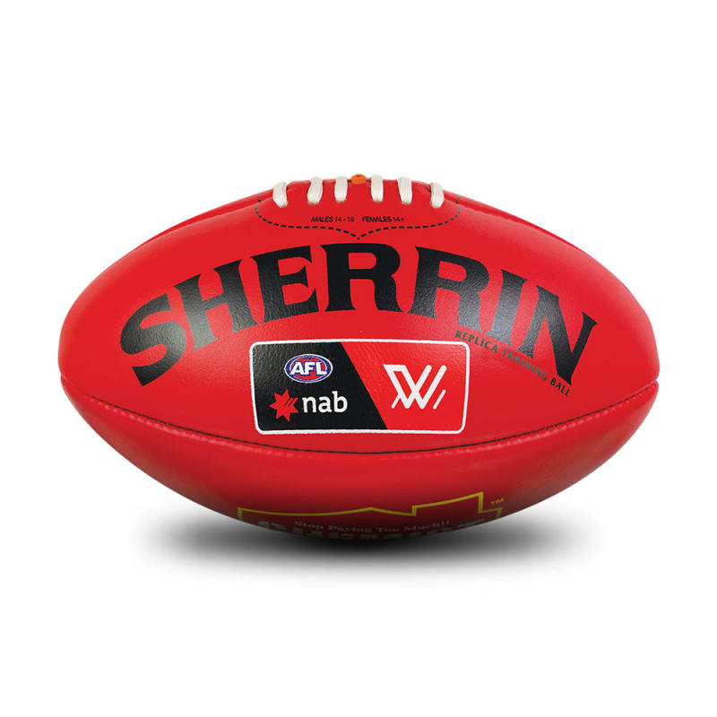 AFLW Replica Training Ball - Red - Size 4