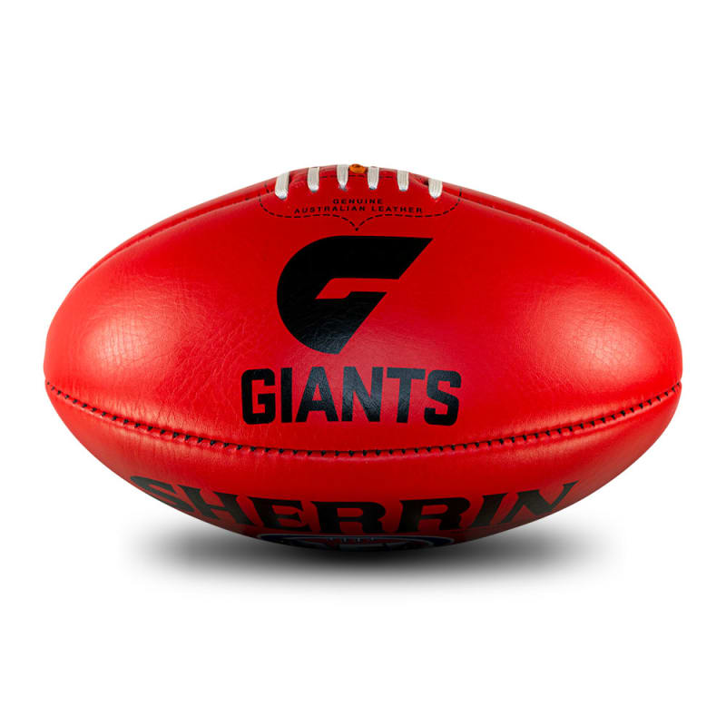 AFL Team Leather Ball - GWS Giants
