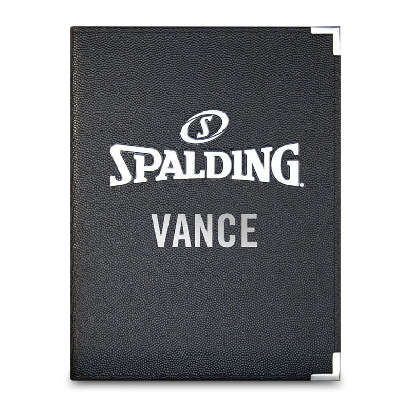 Personalised Spalding Folder - A4 Black