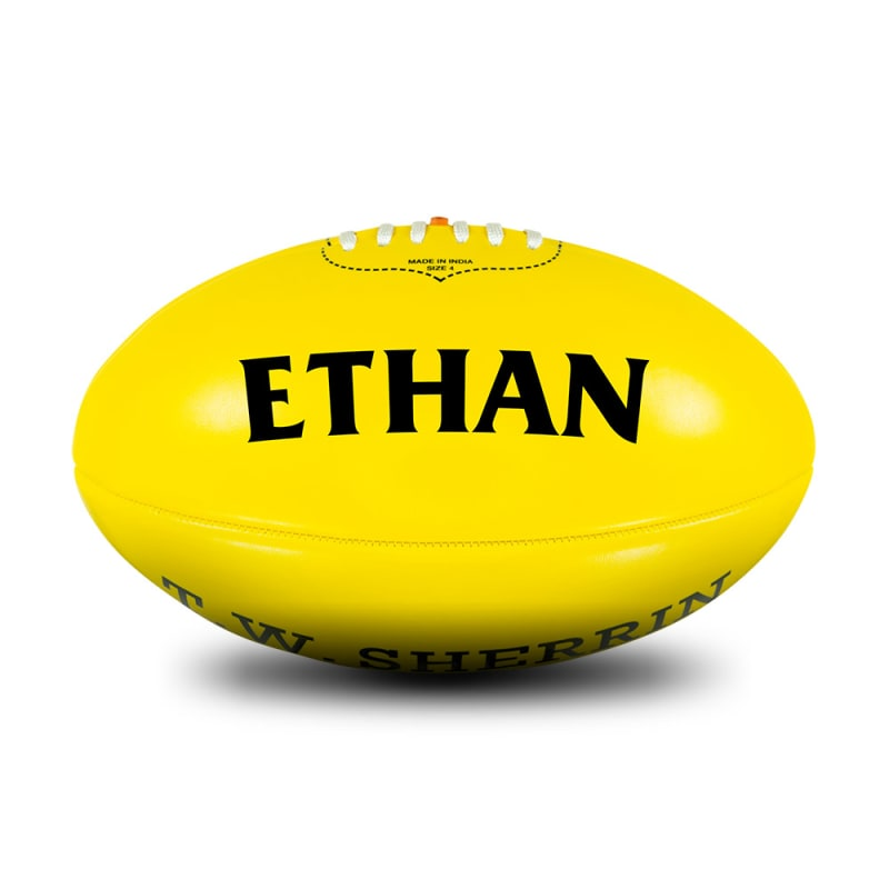Personalised Yellow Football - Size 4