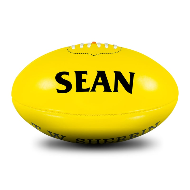 Personalised Soft Touch - Yellow - Size 3
