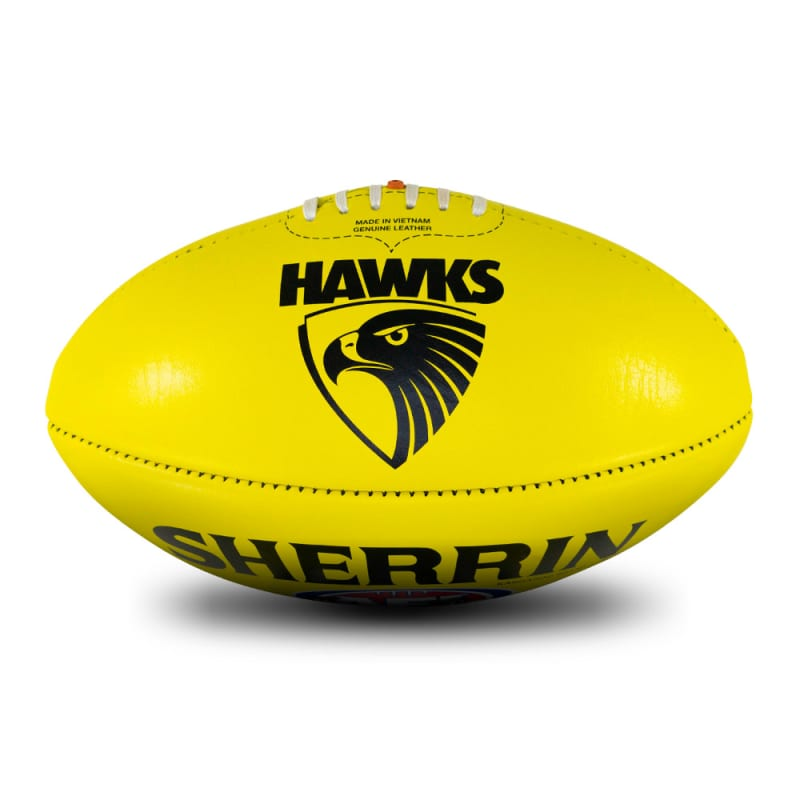 AFL Team Leather Ball - Hawthorn