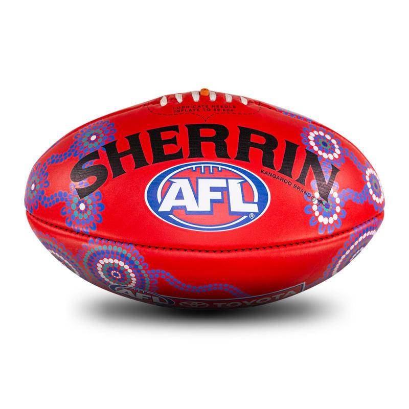 2021 Sir Doug Nicholls Round Game Ball - Red