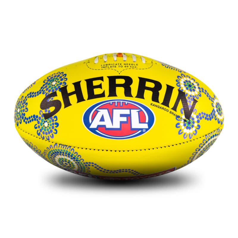 2021 Sir Doug Nicholls Round Game Ball - Yellow