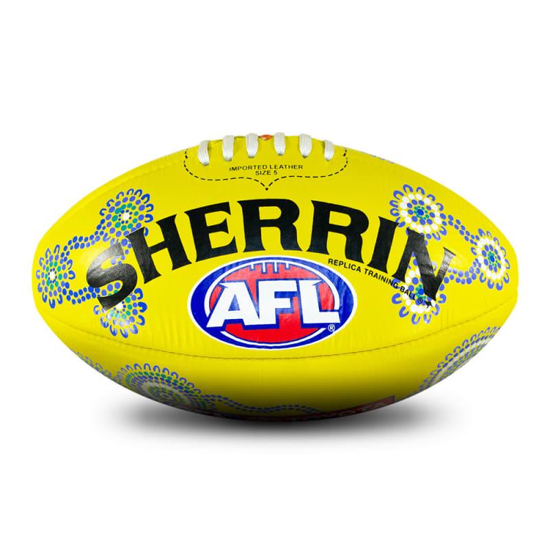 2021 Sir Doug Nicholls Round Replica Ball - Yellow