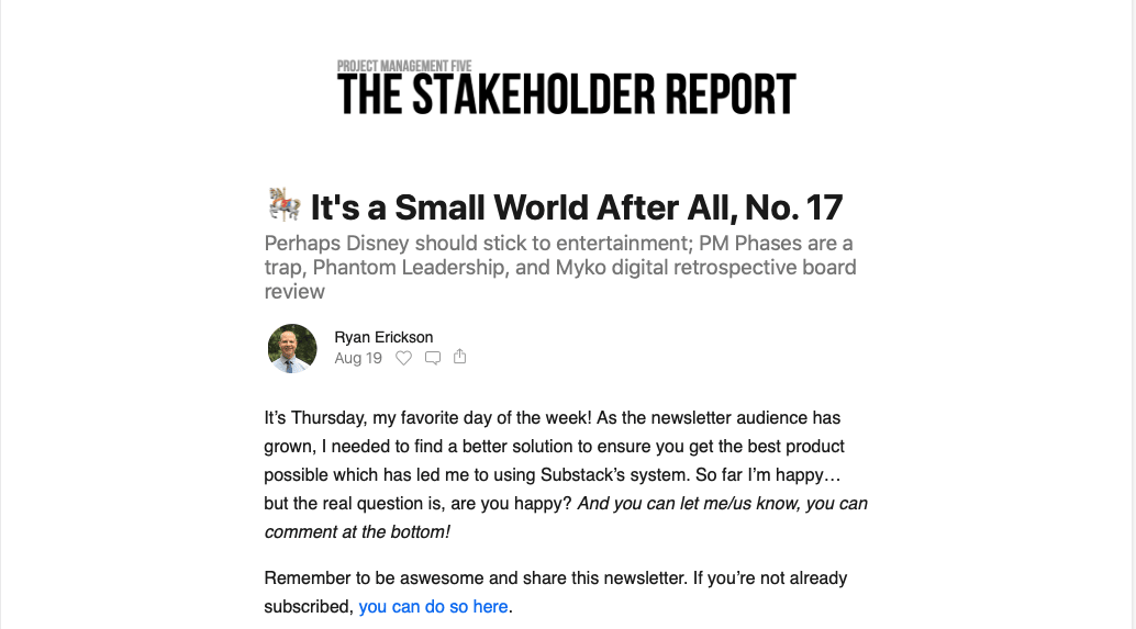 Issue No. 17 of The Stakeholder Report is out!