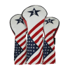 Ram Golf USA Stars and Stripes PU Leather Headcover Set For Driver, #3 Wood, #5 Wood #