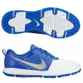 Nike Explorer Golf Shoes - White / Silver / Blue