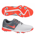 Nike Golf Air Rival III Golf Shoes- White / Grey / Red