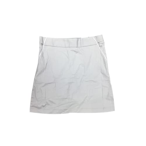 Ashworth Golf Ladies Skirt/Short Skort - Grey w/ White Trim