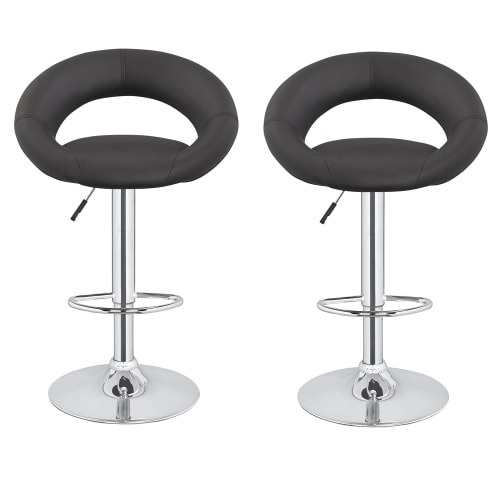 2 x Homegear M3 Sorrento Adjustable Bar Stools Black