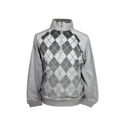 Ashworth Mens Argyll Half Zip Sweater